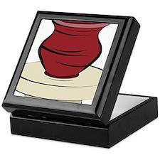 Clay Pottery Keepsake Box
