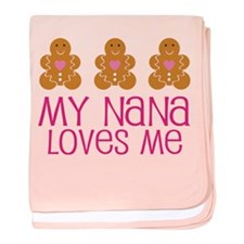 Nana Loves Me Gingerbread baby blanket