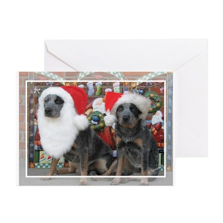 Cattle Dog Christmas Greeting Cards (Pk of 10)