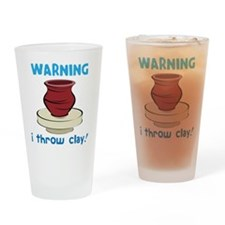 Warning Drinking Glass