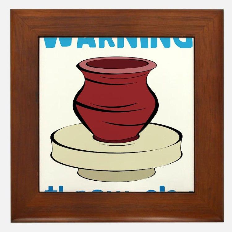 Warning Framed Tile
