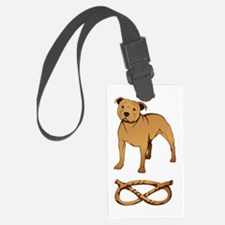 Staffie Knot fawn Luggage Tag