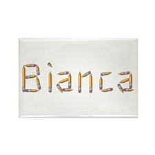 Bianca Pencils Rectangle Magnet