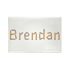 Brendan Pencils Rectangle Magnet