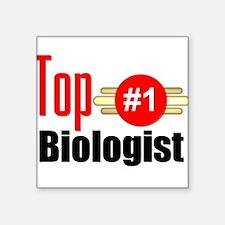 "Top Biologist Square Sticker 3"" x 3"""