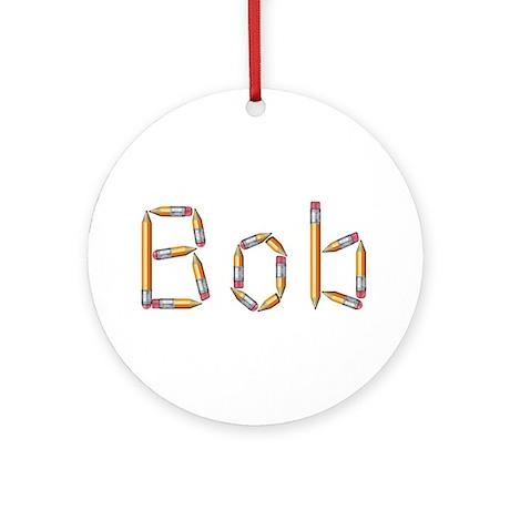 Bob Pencils Round Ornament