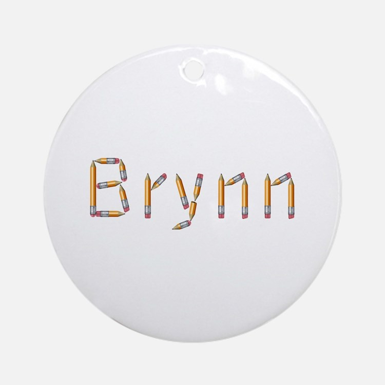 Brynn Pencils Round Ornament