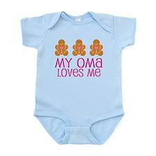 Oma Loves Me Gingerbread Infant Bodysuit