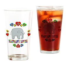 Elephant Lover Drinking Glass