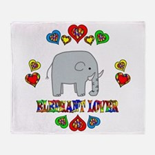 Elephant Lover Throw Blanket