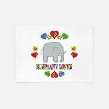 Elephant Lover 5'x7'Area Rug