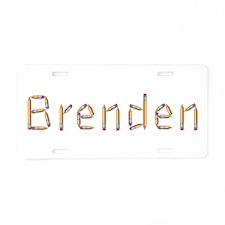 Brenden Pencils Aluminum License Plate