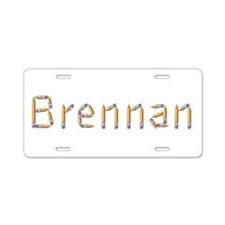 Brennan Pencils Aluminum License Plate