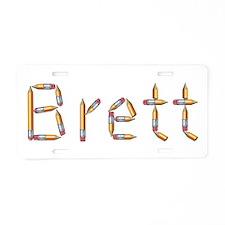 Brett Pencils Aluminum License Plate
