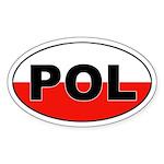 Poland (POL) Flag Oval Sticker