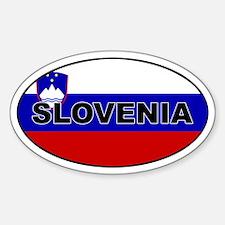 Slovenia Flag Oval Decal