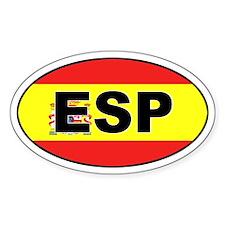 Spanish Flag (ESP) Oval Decal