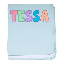 Tessa Rainbow Pastel baby blanket