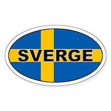 Sweden (SWE) Flag Oval Decal