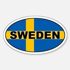 Sweden (SWE) Flag Oval Stickers