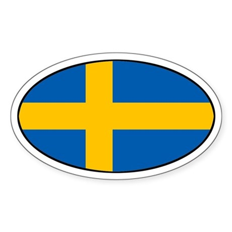 Sweden (SWE) Flag Oval Sticker