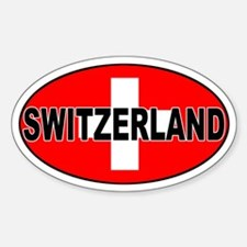 Swiss / Switzerland (CH) Oval Decal