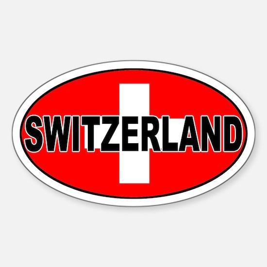 Swiss / Switzerland (CH) Oval Decal