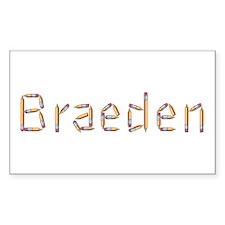 Braeden Pencils Rectangle Decal