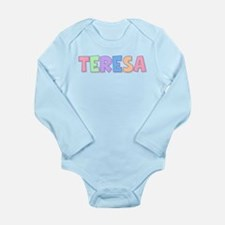Teresa Rainbow Pastel Long Sleeve Infant Bodysuit