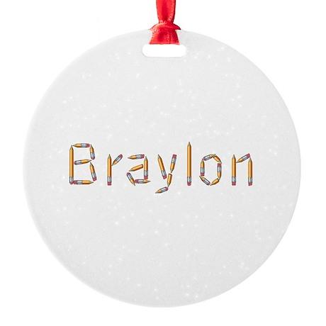 Braylon Pencils Round Ornament