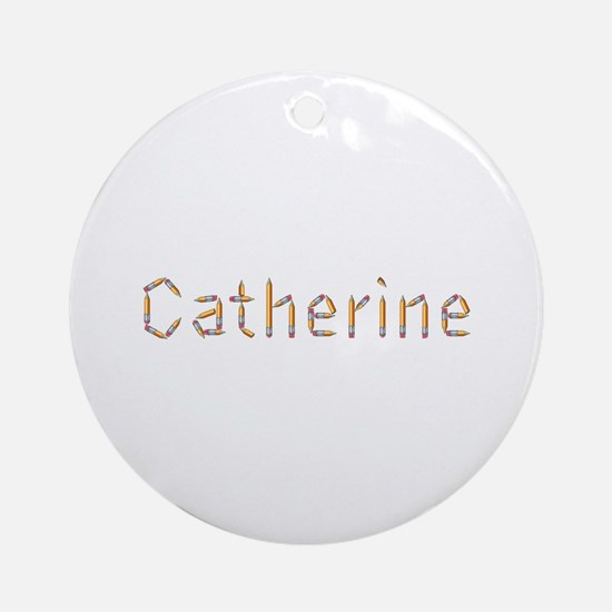 Catherine Pencils Round Ornament