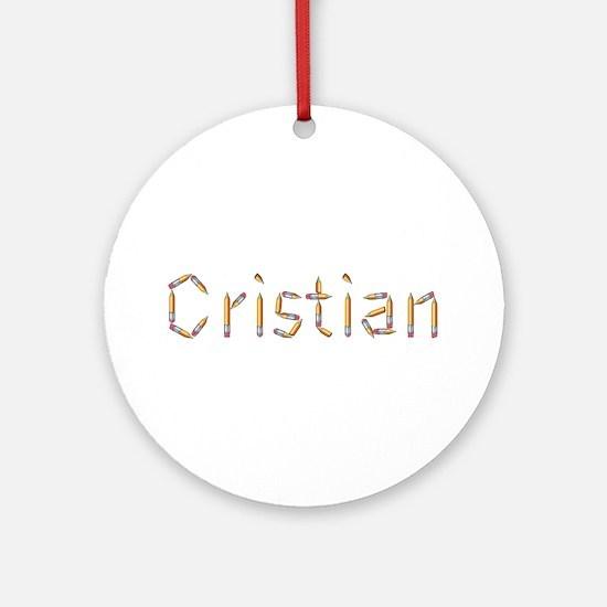 Cristian Pencils Round Ornament