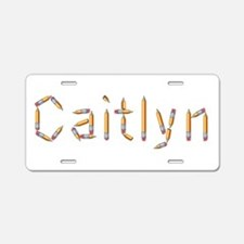 Caitlyn Pencils Aluminum License Plate