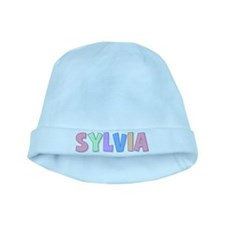 Sylvia Rainbow Pastel baby hat
