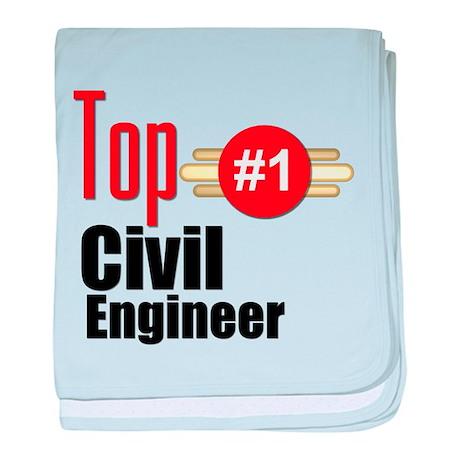Top Civil Engineer baby blanket