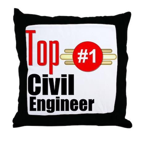 Top Civil Engineer Throw Pillow
