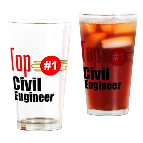 Top Civil Engineer Drinking Glass