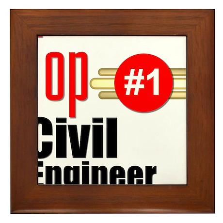 Top Civil Engineer Framed Tile