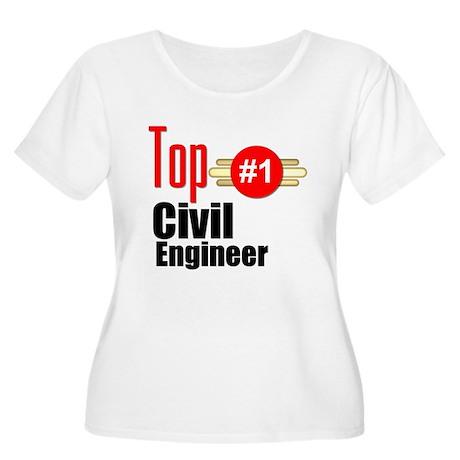 Top Civil Engineer Women's Plus Size Scoop Neck T-