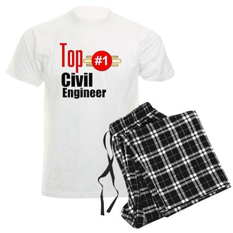 Top Civil Engineer Men's Light Pajamas