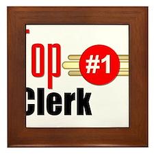 Top Clerk Framed Tile