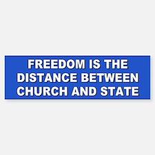 freedom... Bumper Bumper Bumper Sticker
