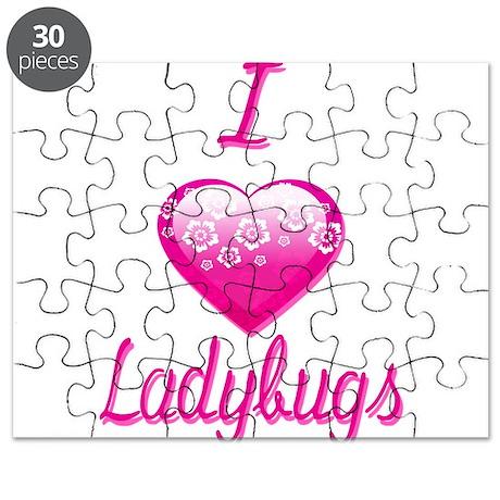 I Love/Heart Ladybugs Puzzle