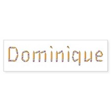 Dominique Pencils Bumper Bumper Sticker