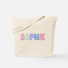 Sophie Rainbow Pastel Tote Bag