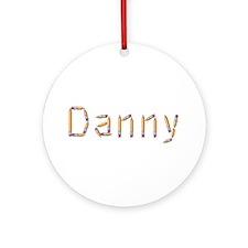 Danny Pencils Round Ornament