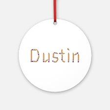 Dustin Pencils Round Ornament