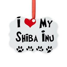 Cute Sheba inu Ornament