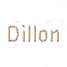Dillon Pencils Aluminum License Plate