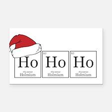 Ho Ho Ho [Chemical Elements] Rectangle Car Magnet